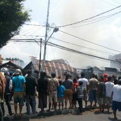 Kebakaran di Ranotana Manado