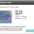 132 km BaratLaut HALMAHERABARAT-MALUT Potensi TSUNAMI utk dtrskn pd msyrk