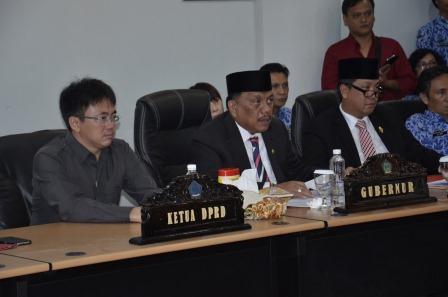 Ketua DPRD Sulut Dampingi Gubernur di Teleconfrence Launching E-Perda