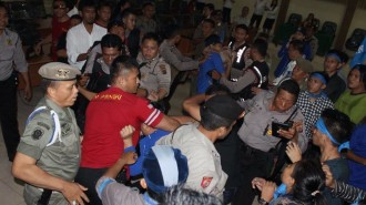 Ketua Cabang GMKI Manado dan anggota jadi sasaran pemukulan polisi dan pol PP