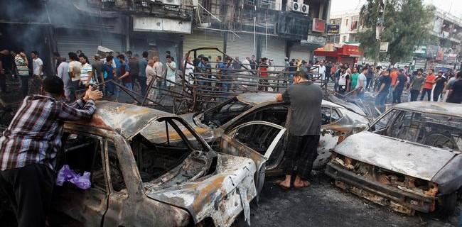 Bom mobil di Baghdad (REUTERS/Khalid al Mousily)