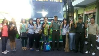 Rombongan FJPI Sulut  dilepas oleh Danrem 131 Santiago Brigjen TNI Sulaeman Agusto yang diwakili Kasi Intel Korem 131 Santiago Kolonel Inf Ario.P di Makorem