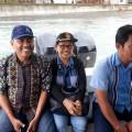 Ketua KPU Sangihe ibu Elsye Sinadia dan komisioner lainnya saat menuju Nusa Tabukan