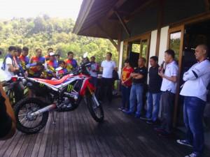 Press Gathering yang digelar Honda di Danau Linow