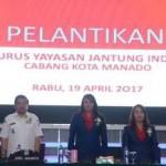 Pelantikan Pengurus Yayasan Jantung Indonesia Kota Manado