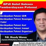 Pdt Moody Wenas Calon Ketua MD GPdI