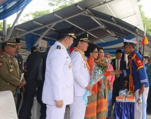 launching group marching band 'Anoa' Satuan Polisi Pamong Praja (Satpol-PP) Manado