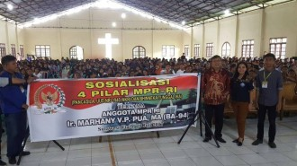 Anggota MPR-RI Ir. Marhany Pua, MA Sosialisasikan 4 Pilar MPR RI