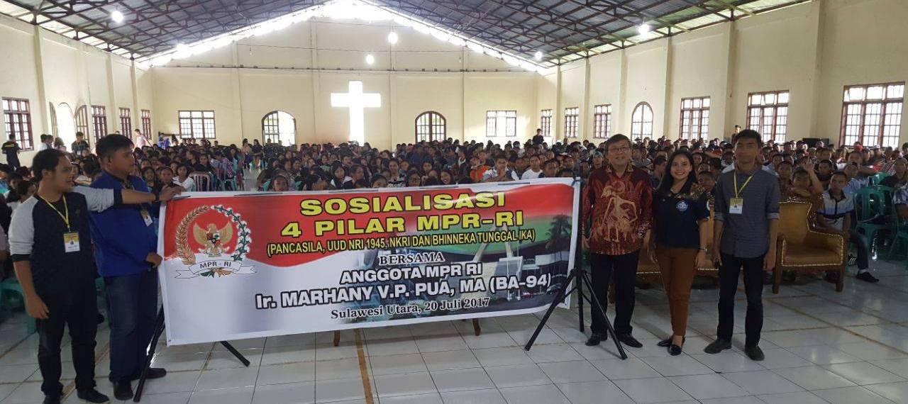 700 Mahasiswa Politeknik  Negeri Manado Belajar 4 Pilar Kebangsaan