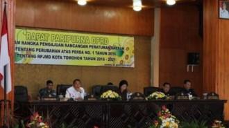 DPRD Tomohon Paripurnakan Pengajuan Ranperda Perubahan RPJMD 1016-2021