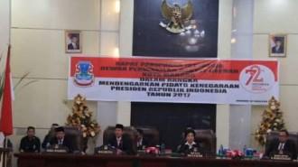 Walikota GSVL dan Wawali Mor Dengarkan Pidato Presiden Jokowi