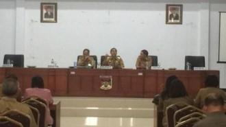 Bupati JWS Pimpin Rakor Kesiapan Ultah Provinsi