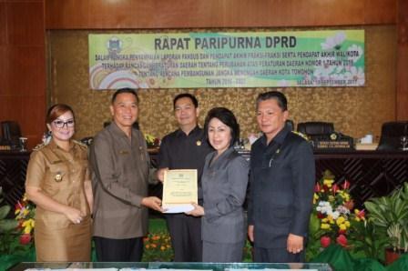 DPRD Tomohon Tetapkan Perubahan RPJMD 2016-2021