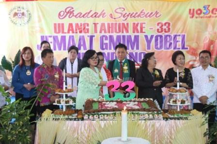 GMIM Yobel Uluindano Rayakan Ultah 33