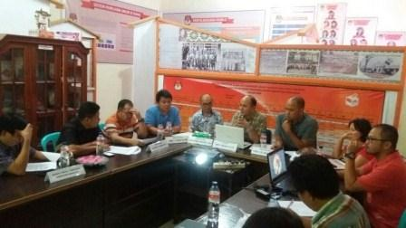 Hadapi Tahapan Pilbup Minahasa 2018, KPU Gelar Rakor Dengan Panwas