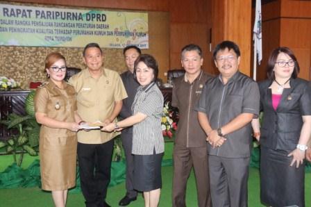 DPRD Tomohon Gelar Paripurna Ranperda Inisiatif Penataan Pemukiman