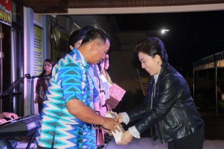 Wenur Hadiri Kenal Pamit Pejabat Polres Tomohon