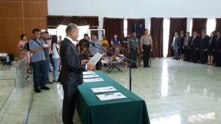 Dituntut Netral dan Profesional, Tinangon Lantik 125 Anggota PPK