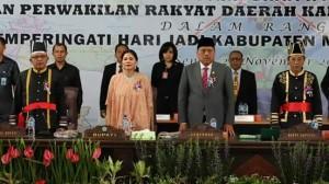Rapat Paripurna Istimewa Dewan Perwakilan Rakyat Daerah Kabupaten Minahasa Utara (Minut) dalam rangka HUT ke- 14 Kabupaten Minut