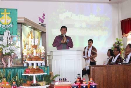 Walikota GSVL Ajak Jemaat Terus Jaga Keamanan, Kebersihan dan Kerukunan