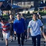 Walikota JFE Dampingi MenPAN/RB Jalan Sehat Nikmati Tomohon