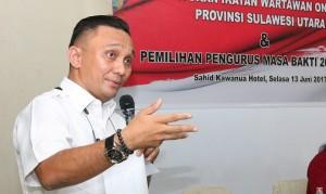 Ketua Ikatan Wartawan Online(IWO)Sulut Victor Rarung