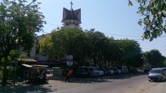 Gereja Katolik Santa Maria Tak Bercela  sebelum peristiwa Minggu Kelabu 1305