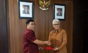 Pemkab Minahasa dan BSG tandatangani kerjasama GNNT dan Penempatan Dana Deposito. Foto BSG