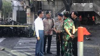 Jokowi Datang Langsung ke Lokasi Bom Bunuh Diri