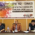 Rakor DPS Pemilu 2019 KPU Minahasa