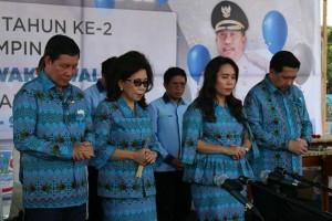 Perayaan dua tahun kepemimpinan Walikota Manado DR Ir GS Vicky Lumentut SH MSi DEA dan Wakil Walikota Mor Dominus Bastiaan SE