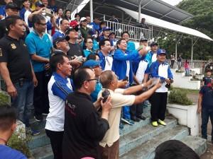 pembukaan kegiatan dan launching HUT ke-395 Kota Manado di Lapangan Sparta Tikala Manado