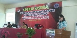 Dekan Fakultas Hukum Universitas Sam Ratulangi Manado, Dr Flora Kalalo SH,MH
