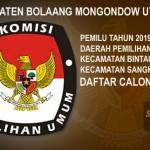 KPUD Bolmut Tetapkan DCT Pemilu 2019 Dapil III