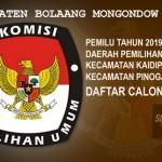 KPUD Bolmut Tetapkan DCT Pemilu 2019 Dapil I