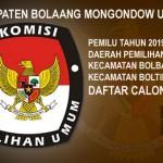 KPUD Bolmut Tetapkan DCT Pemilu 2019 Dapil II