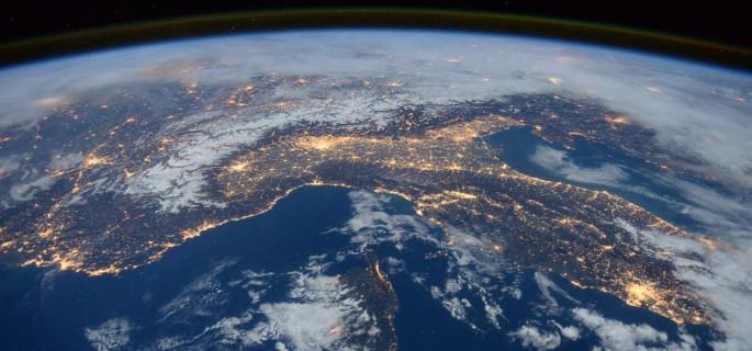 Foto yang diambil oleh insinyur penerbangan Expedition 46 Tim Peake dari European Space Agency (ESA) di Stasiun Luar Angkasa Internasional