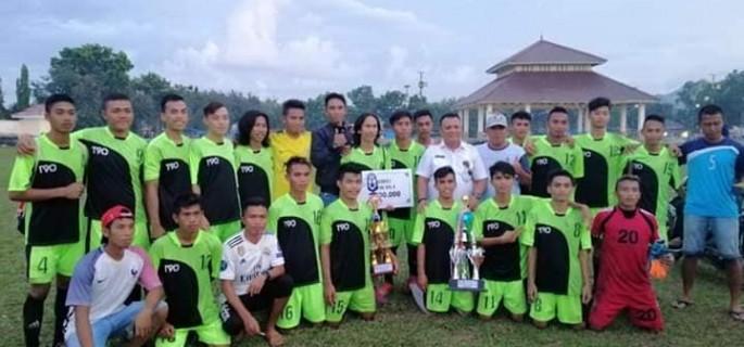 Skor 5 4 Bolangitang Barat FC Juara Satu Sepakbola Gala Desa Tahun 2018 Bolmut