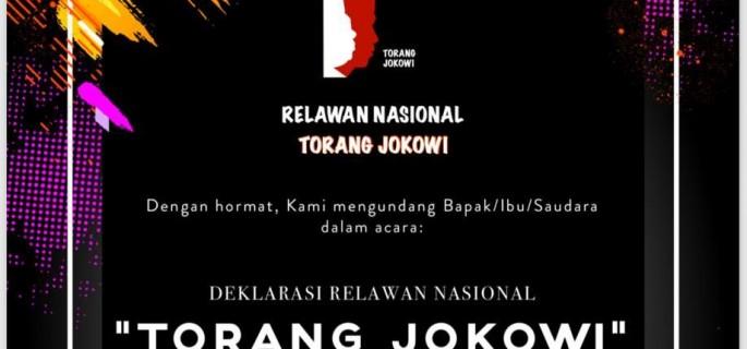 'Torang Jokowi' Relawan Non Parpol, Non Caleg dan Non PNS