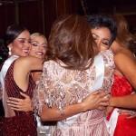 Miss Amerika Serikat Sarah Rose Summers meminta maaf kepada Miss Vietnam H'Hen Nie dan Miss Kamboja Rern Sinat. Instagram.