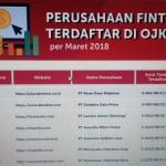 Daftar perusahaan fintech legal dari Website www.ojk.go.id. (yr)