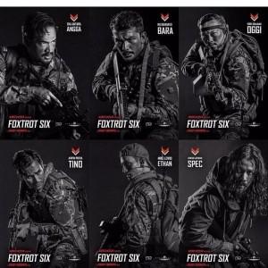 Enam aktor utama di Film Foxtrot Six.