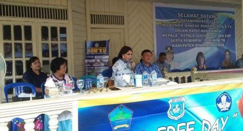Bupati VAP Pimpin Rakor Kepsek se- Kabupaten Minut