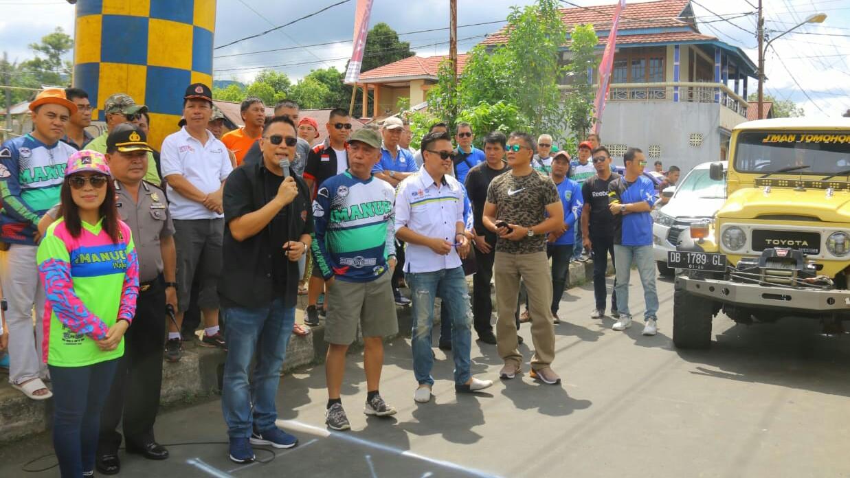 Walikota Eman Ikut Fun Auto Rally GMIM Imanuel