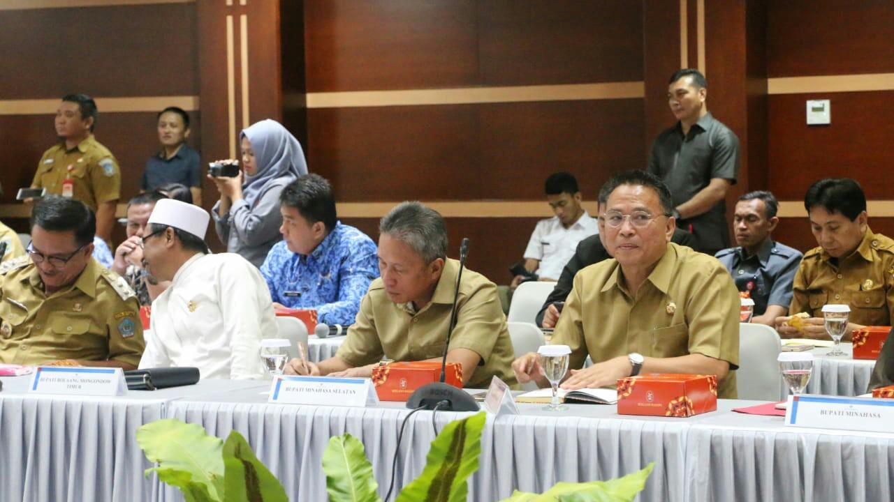 Walikota Eman Hadiri Meeting TPID Sulut