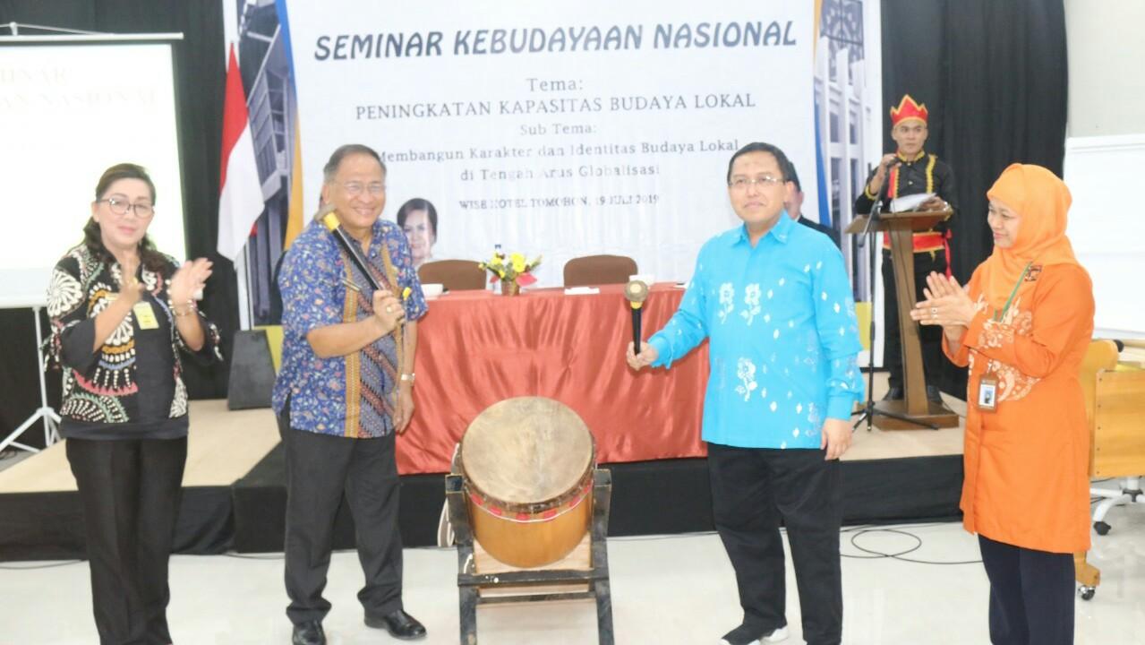 Lolowang Buka Seminar Budaya Gelaran Kementerian Dikbud RI