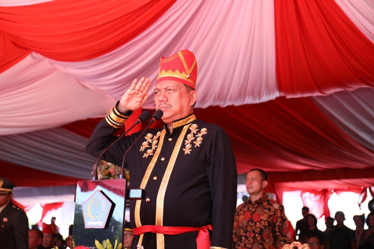 Ini Harapan Gubernur OD Saat Sambutan Sebagai Irup di Upacara HUT ke-55 Provinsi Sulut