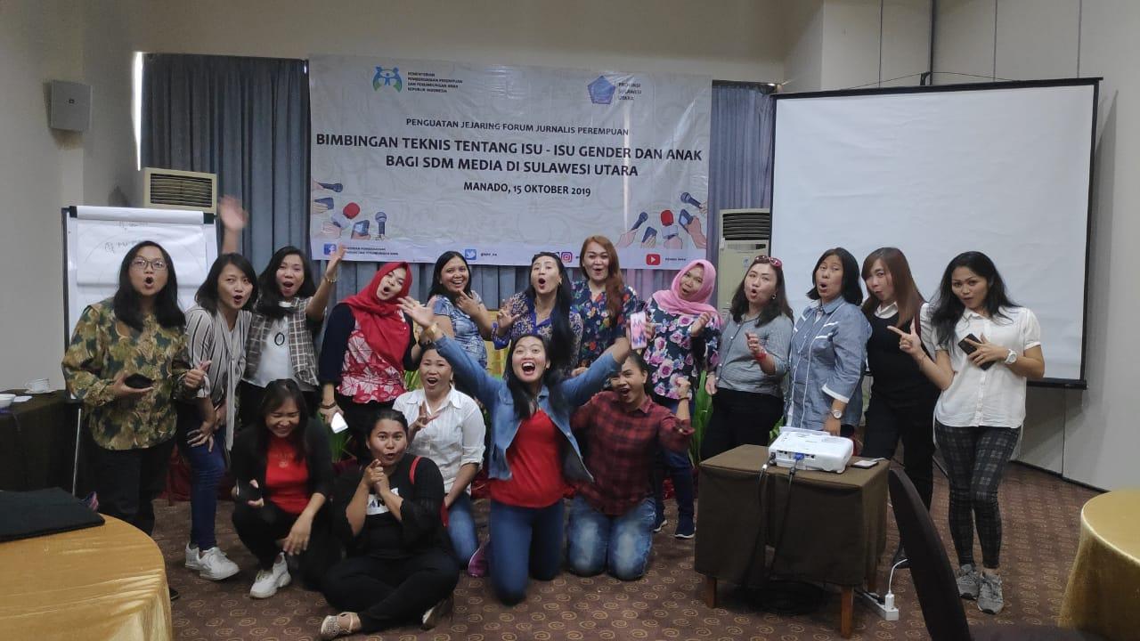 Kementerian PPPA RI Dorong Jurnalis Perempuan Sulut Responsif Gender Dalam Peliputan