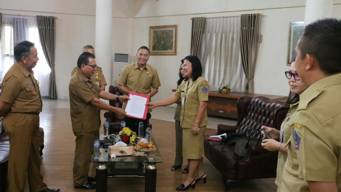 Walikota Eman Sambut Inspektorat Sulut