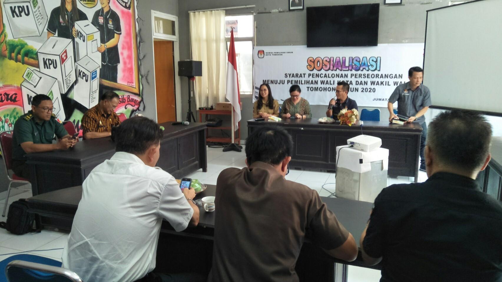 KPU Tomohon Sosialisasi Pencalonan Perseorangan Pilkada 2020